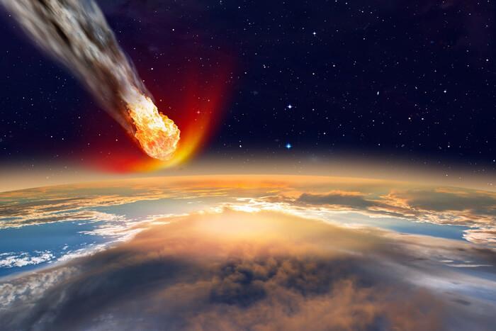 Падение метеорита или кометы