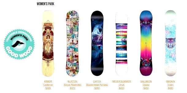 женские сноуборды для паркового катания