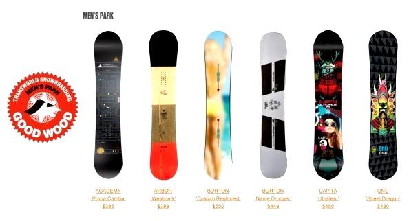 мужские сноуборды для паркового катания