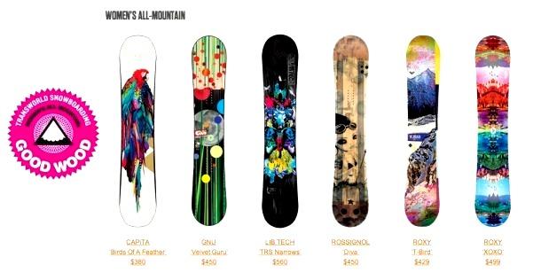 женские сноуборды для универсального катания