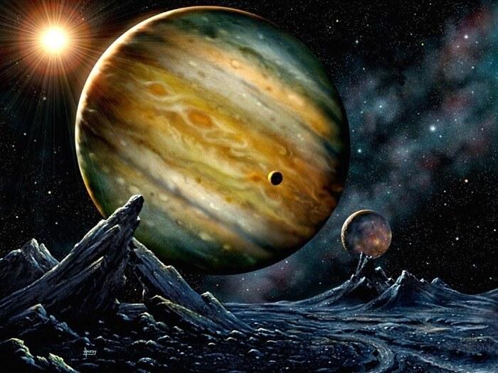 Поверхность Юпитера состоит из океана жидкого водорода