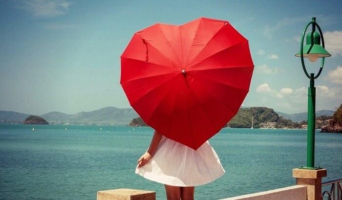 Зонтик в виде сердца