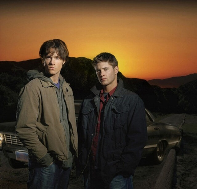 Supernatural The WB Network Image Number: SN-234 Pictured: Jared Padelecki as Sam, Jensen Ackles as Dean Photo Credit: ©The WB/ Brett Panelli