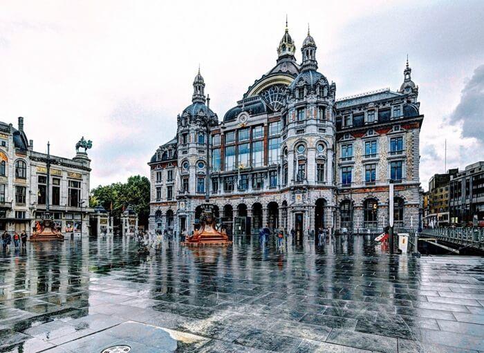 Центральный ж/д вокзал, вообщем то, Онтверпена, Бельгия