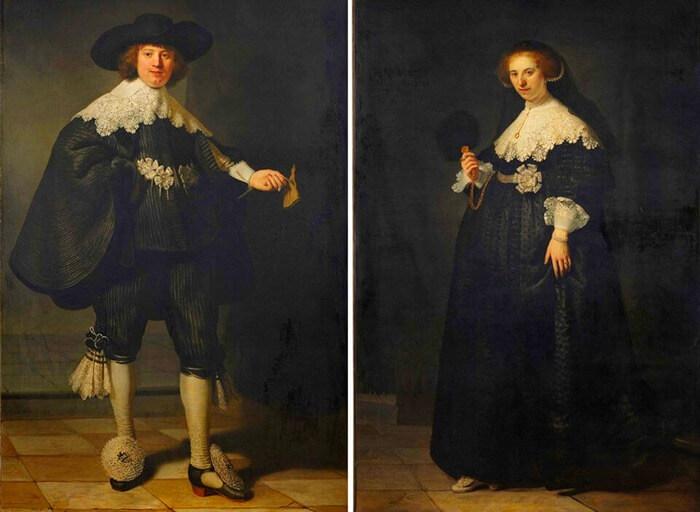 Рембрандт ван Рейн «Портреты Мартена Сольманса и Опьен Коппит», 1634