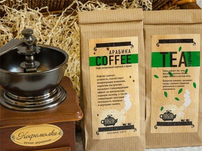 Чай или кофе в красивой упаковке