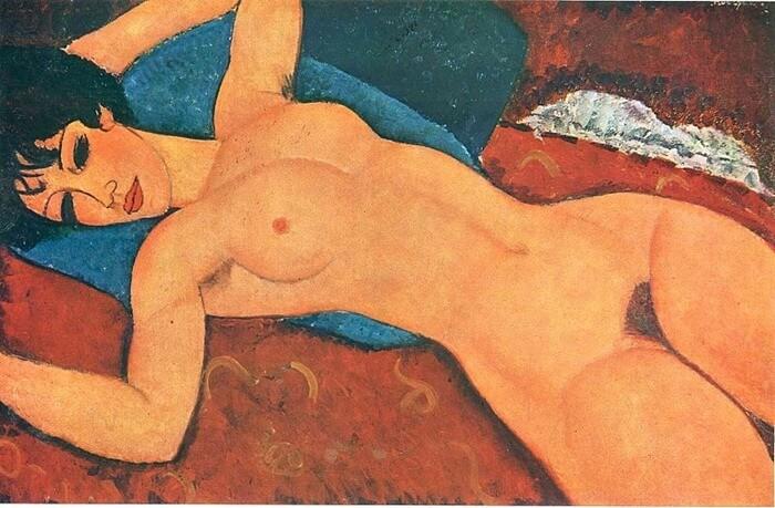 Амедео Модильяни «Лежащая обнаженная», 1917-1918