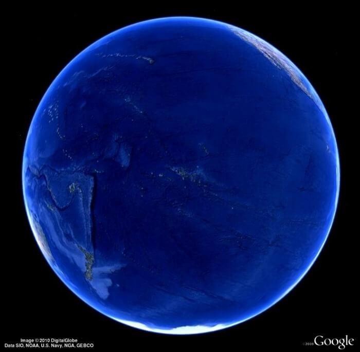 Тихий океан со спутника