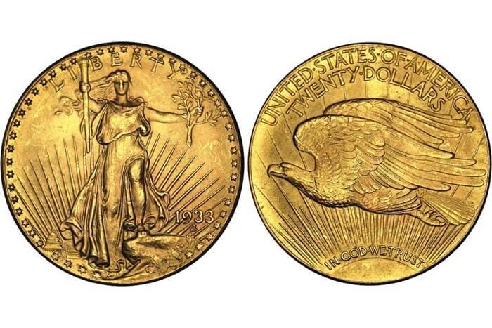 Двойной орел, 1933 год