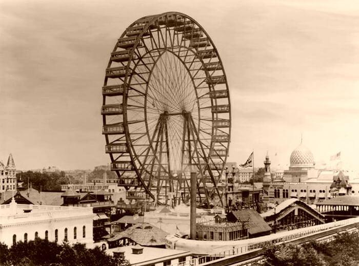 Самое первое колесо обозрения в мире, 1893 год