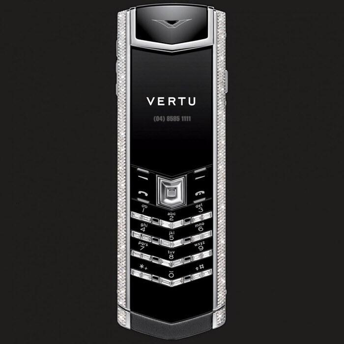 Vertu White Gold Full Pave + Baguettte самый дорогой смартфон 2018 в рознице