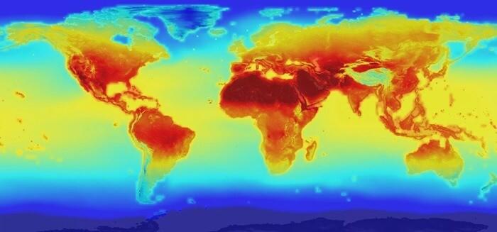 Температурная карта мира