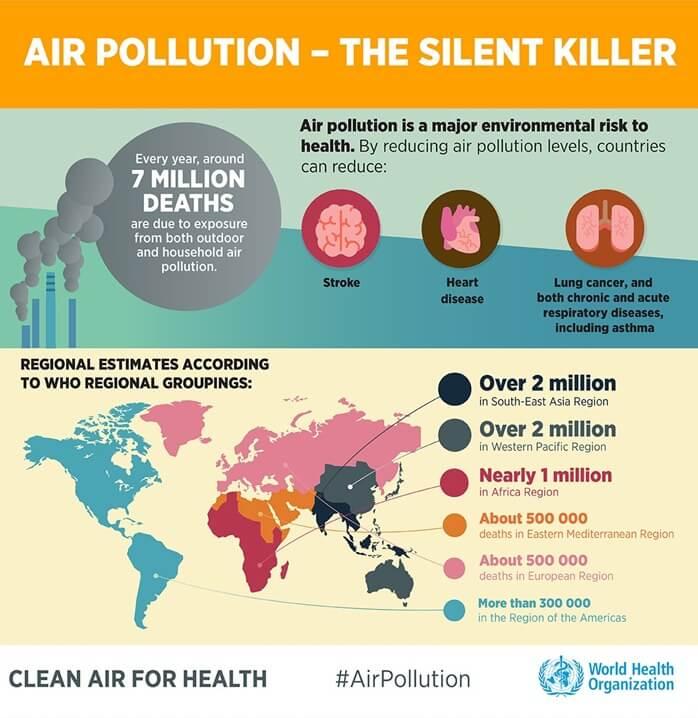 Смертность в мире из за экологии