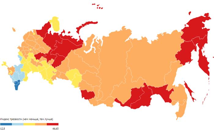 Рейтинг трезвости российских регионов