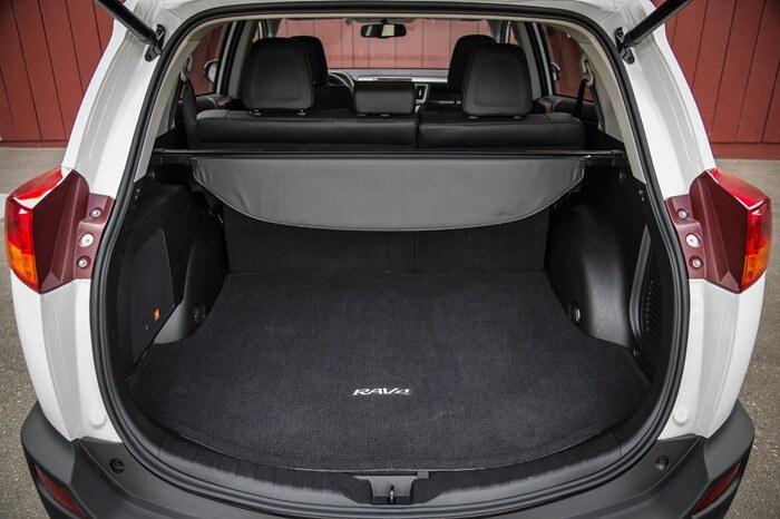 Объём багажника Toyota RAV4