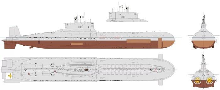 Проект 941 «Акула» схема