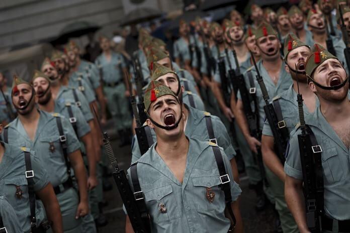 Солдаты Испанской армии