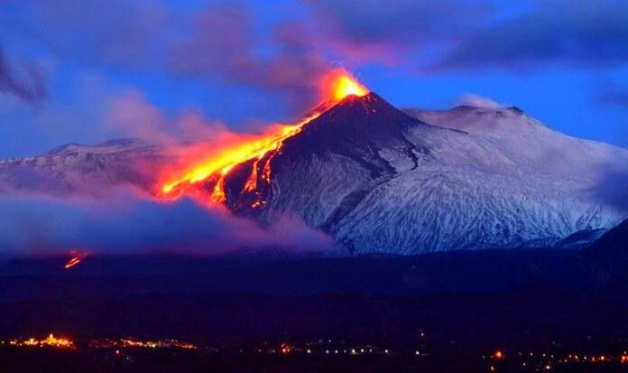 Этна - высота 3295 метров