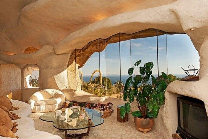 Flintstone-style house