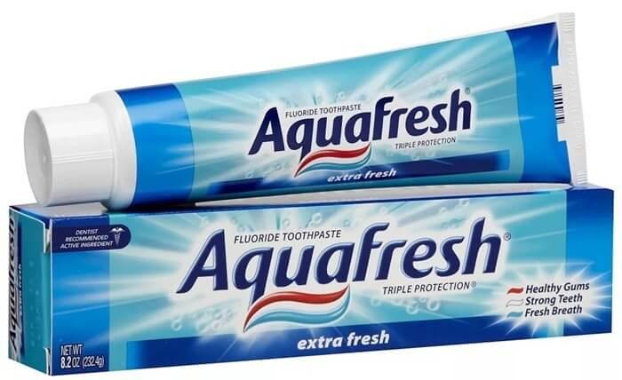 Aquafresh, лучшая зубная паста для отбеливания и здоровья зубов