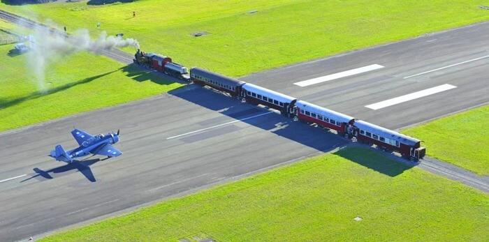 Аэропорт Гисборн пересекает железная дорога