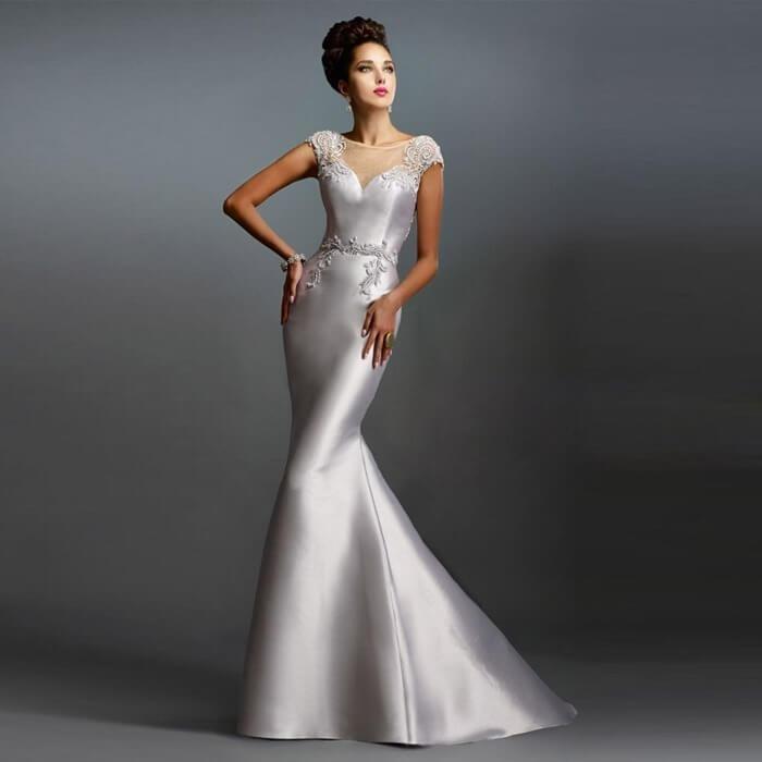 Платье цвета металлик