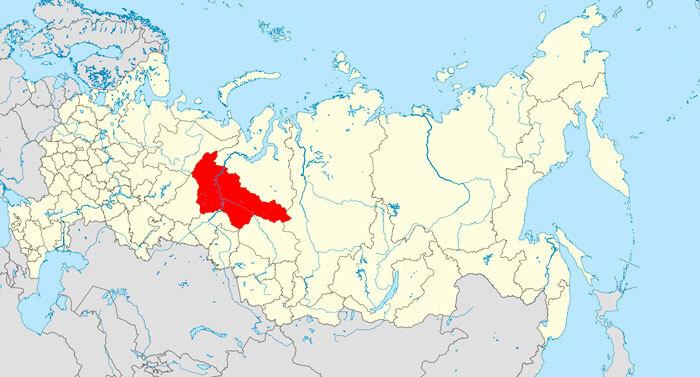 ХМАО - ЮГРА на карте РФ
