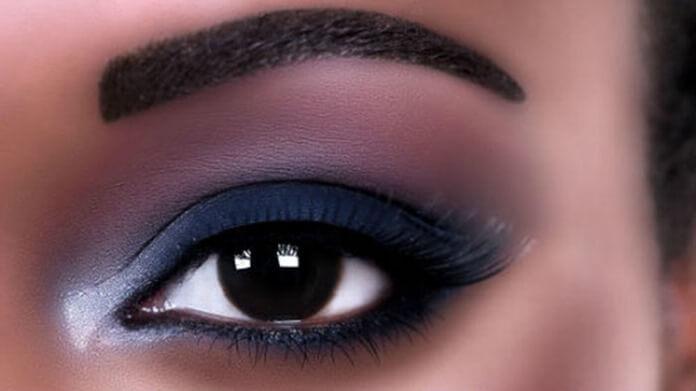 Сине-серебристый макияж