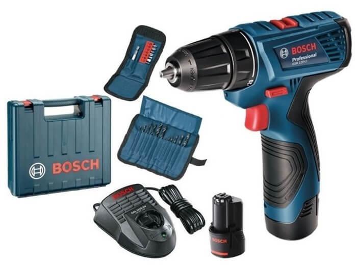 BOSCH GSR 120-LI 1.5Ah x2 Case