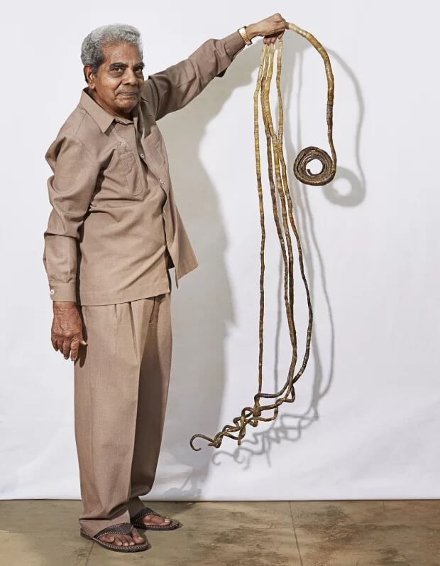 Шридхар Чиллал – фото самых длинных ногтей в мире