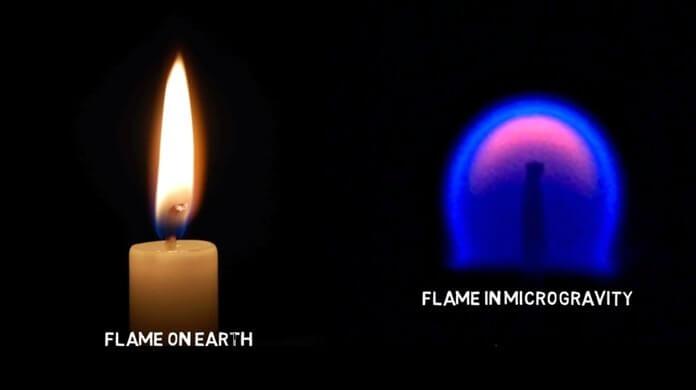 Пламя в микрогравитации