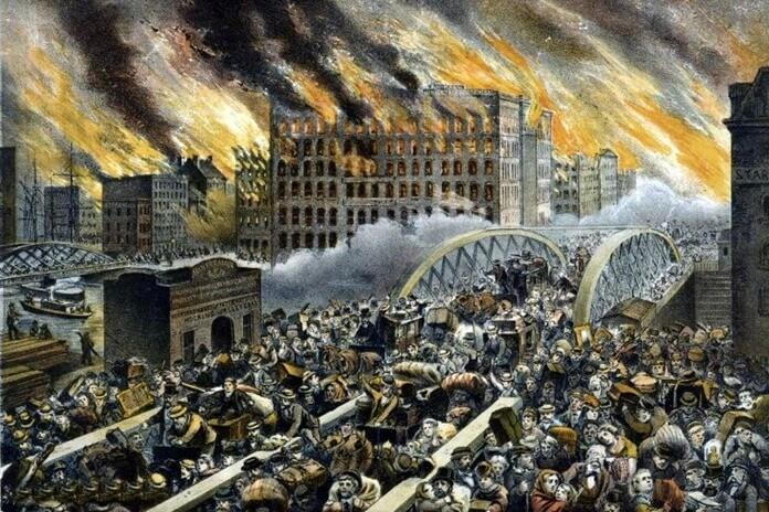 Великий Чикагский пожар, 1871