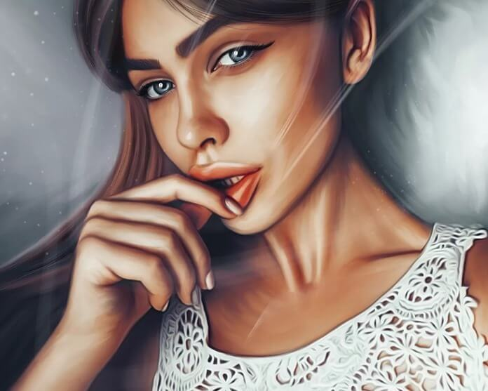 Портрет девушки – новогодний подарок 2020
