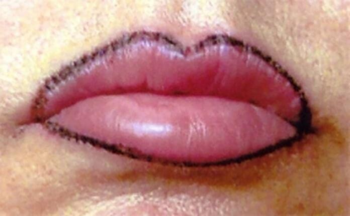 Контур для губ