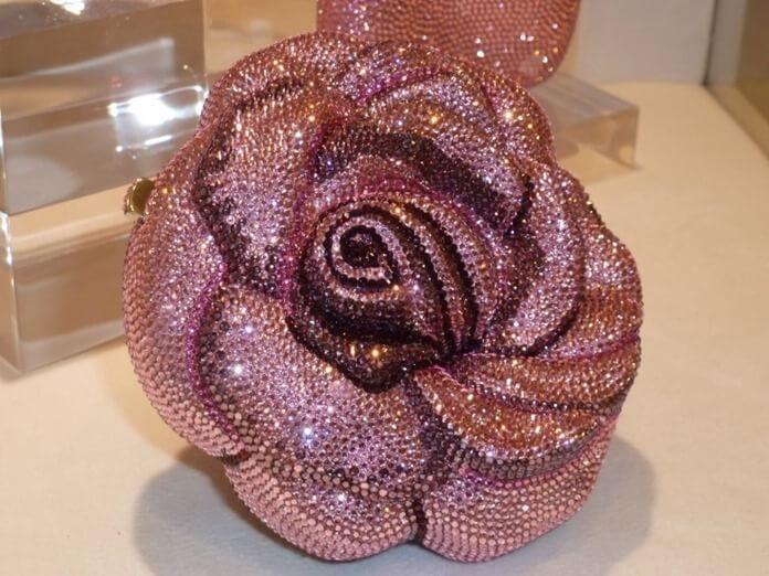 Judith Leiber Precious Rose