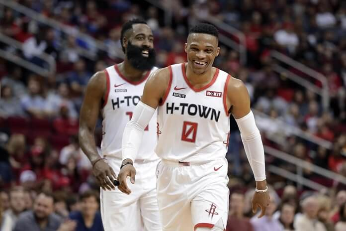 James Harden and Russell Westbrook  | Most expensive NBA duos in 2020