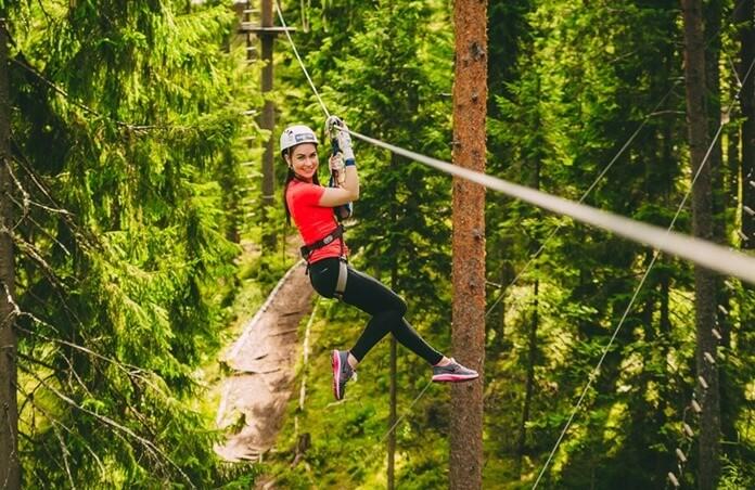 Норвежский веревочный парк в Орехово