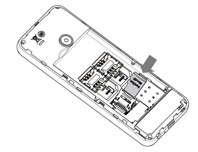 Philips Xenium E172 слот MicroSD