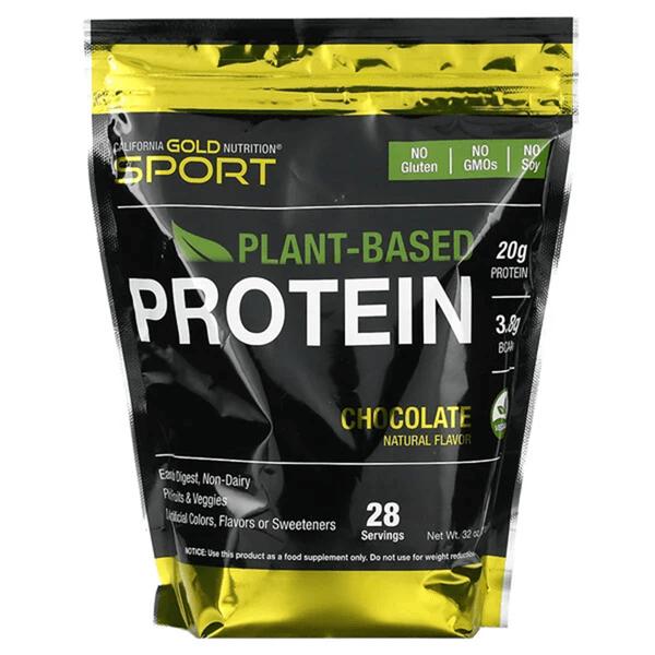 California Gold Nutrition, растительный протеин со вкусом шоколада