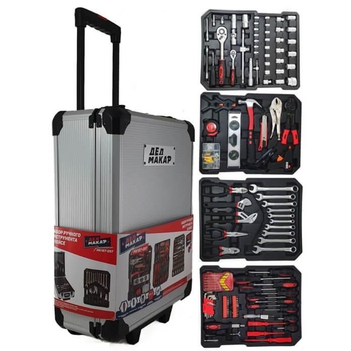 Набор инструментов в кейсе 187 предметов для автолюбителя