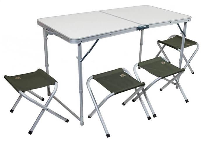 Складные стул и стол в подарок рыбаку или охотнику