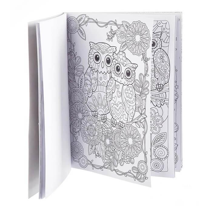 Книга раскраска-антистресс