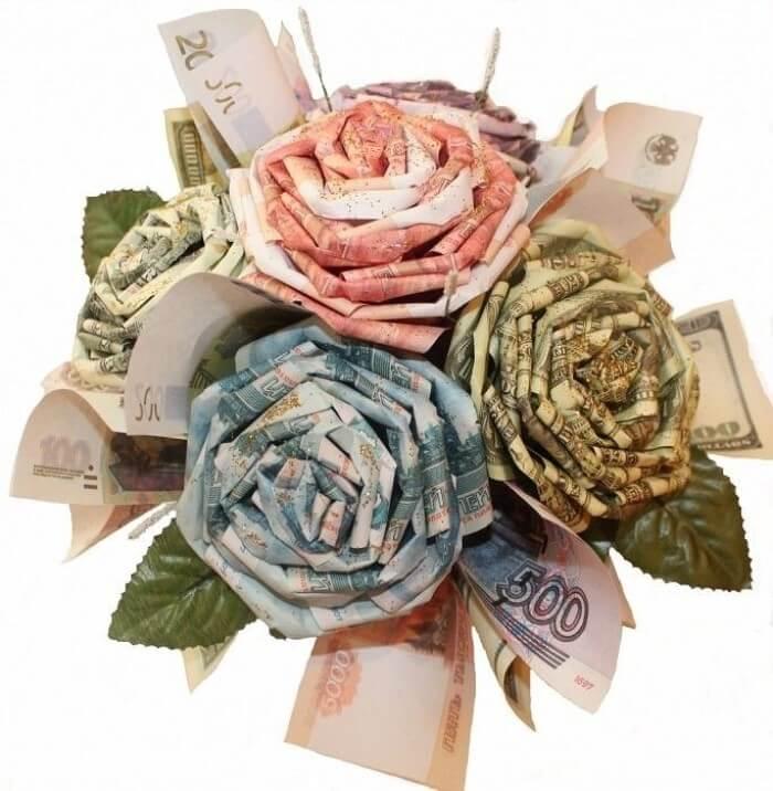 Роза из денег, лучшая идея новогоднего подарка девушке