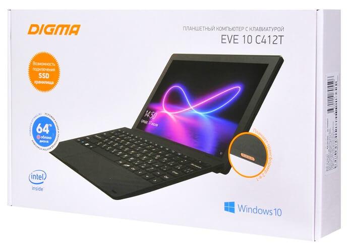 Планшет DIGMA EVE 10 C412T, коробка