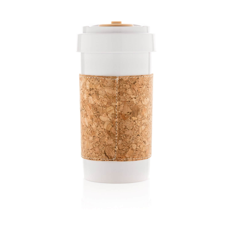 Термокружка Golden Turtle Стакан ЭКО для чая, кофе с пробковым держателем