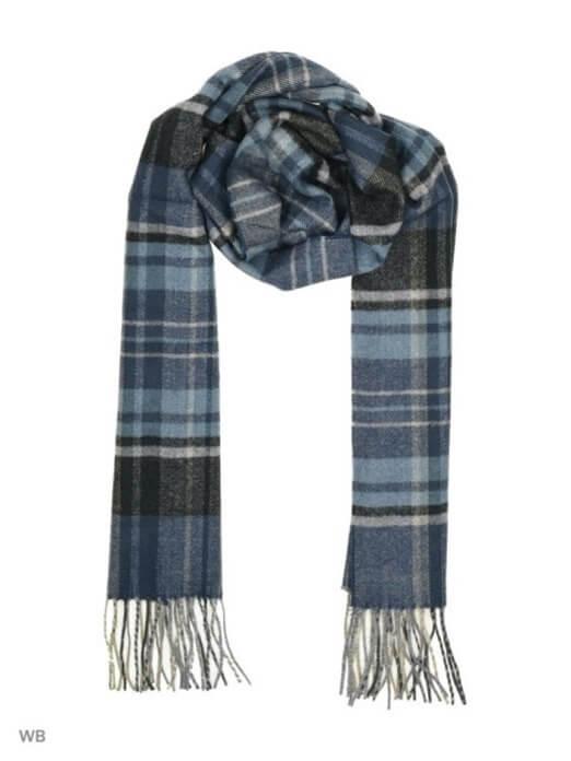 Nifty Classic мужской шарф из хлопка, шерсти и кашемира